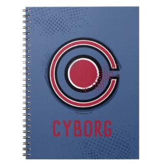 Cuaderno Símbolo del Cyborg del cepillo y del tono medio de