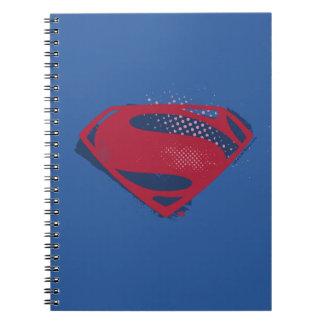 Cuaderno Símbolo del superhombre del cepillo y del tono