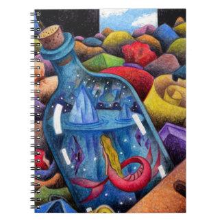 Cuaderno Sirena en el bottleMermaid en la botella