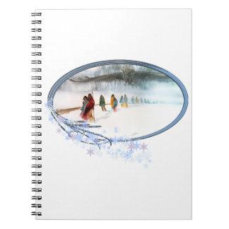 Cuaderno Sombra del búho en el rastro de rasgones
