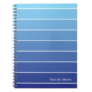 Cuaderno Sombras del microprocesador de la pintura de las