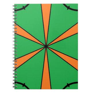 Cuaderno starbursts anaranjados