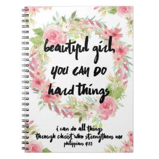 Cuaderno subió rosa hermoso del 4:13 de los