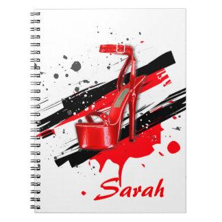 Cuaderno Tacones altos negros, rojos y candentes