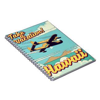 Cuaderno ¡Tarde vacaciones! Dibujo animado del viaje de