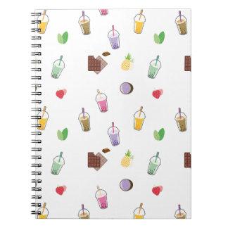 Cuaderno Té de la burbuja de Kawaii