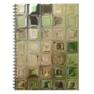 Cuaderno Tejas del vidrio verde