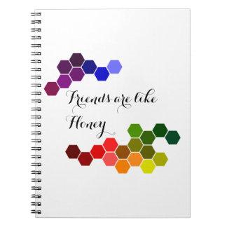 Cuaderno Tema de la miel con palabras positivas
