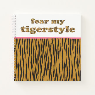 Cuaderno Tema mi cita rosada Tigerprint de la diversión de