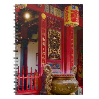 Cuaderno Templo en Yilan, Taiwán