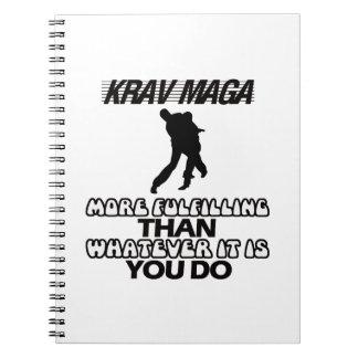 Cuaderno Tender los DISEÑOS de Krav Maga