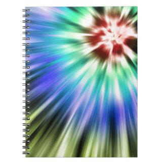Cuaderno Teñido anudado colorido de Starburst