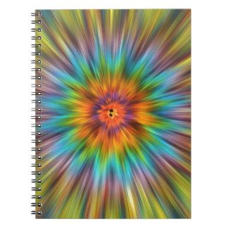 Cuaderno Teñido anudado colorido Starburst