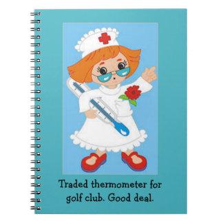 Cuaderno Termómetro negociado para el club de golf - buen