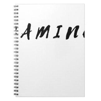 Cuaderno Texto limpio simple del negro del juego del
