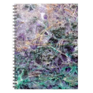 Cuaderno textura de piedra amethyst