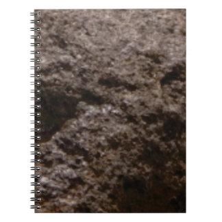 Cuaderno textura marcada con hoyos de la roca