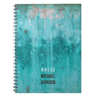Cuaderno Textura resistida del muro de cemento de la
