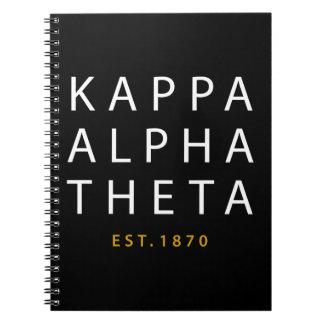 Cuaderno Theta alfa el | Est de Kappa. 1870
