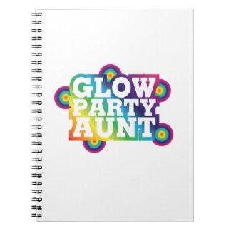 Cuaderno Tía Funny Gifts de la fiesta de cumpleaños del