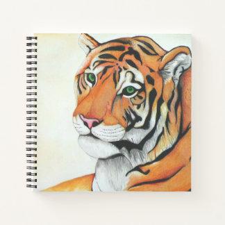 Cuaderno Tigre (lápiz por el arte de Kimberly Turnbull)
