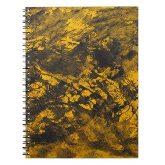 Cuaderno Tinta negra en fondo amarillo