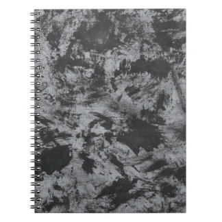 Cuaderno Tinta negra en fondo gris