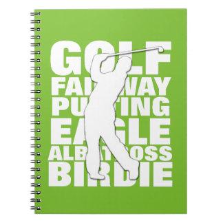 Cuaderno Tipografía de la terminología del golf de los