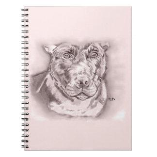 Cuaderno Tiranizado (bosquejo de Staffordshire bull