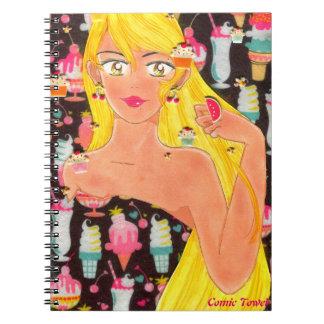 Cuaderno Toalla, el chica que ama los dulces
