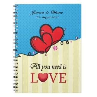 Cuaderno Todo lo que usted necesita es amor