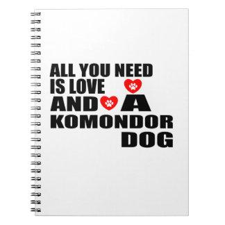 Cuaderno Todos usted necesita diseños de los perros del