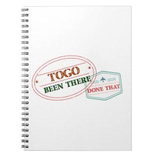 Cuaderno Togo allí hecho eso