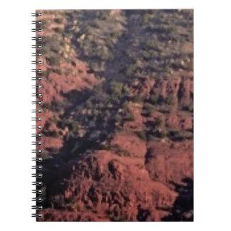 Cuaderno topetones y terrones en roca roja