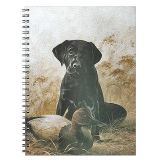 Cuaderno Trampa del perro de caza del perrito de Labrador
