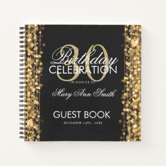 Cuaderno trigésimo Oro de las chispas del fiesta del