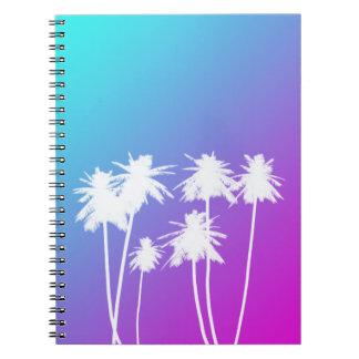 Cuaderno tropical de neón