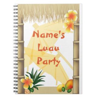 Cuaderno tropical hawaiano del recuerdo del fiesta