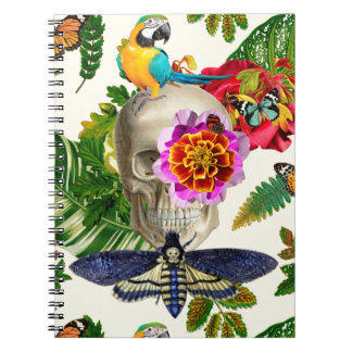 Cuaderno Tropical Skull