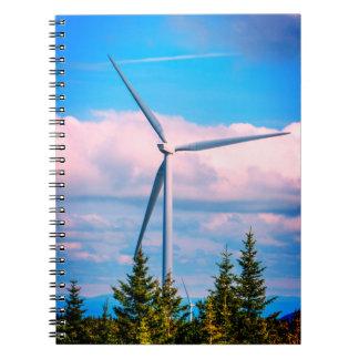 Cuaderno Turbina de viento grande
