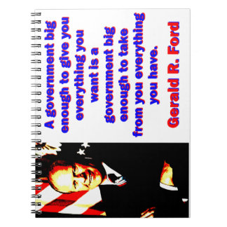 Cuaderno Un gobierno bastante grande - Gerald Ford