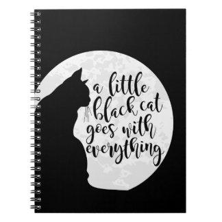 Cuaderno Un pequeño gato negro va con todo