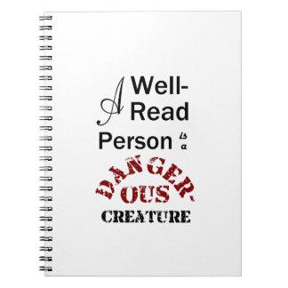 Cuaderno Una persona instruida es una criatura peligrosa
