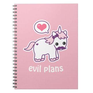 Cuaderno Unicornio rosado del bigote