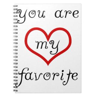 Cuaderno usted es mi favorito