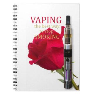 Cuaderno Vaping es la mejor manera de parar el fumar