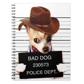 Cuaderno vaquero de la chihuahua - perro del sheriff