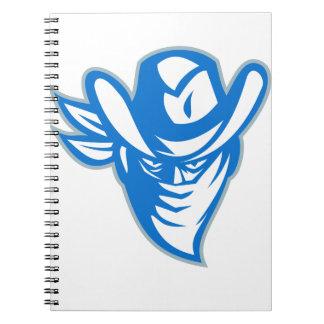 Cuaderno Vaquero proscrito del bandido retro