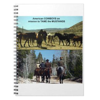 Cuaderno Vaqueros americanos en viaje a los caballos del