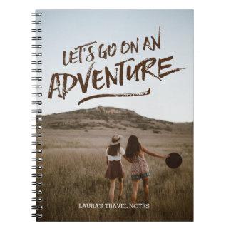 Cuaderno Vayamos en una plantilla de la foto de la